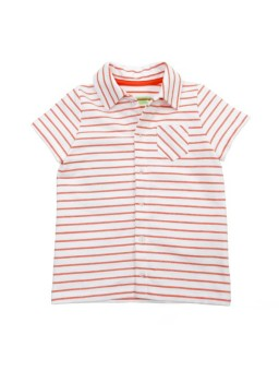 Hemd korte mouw Striped Red Orange Jonathan
