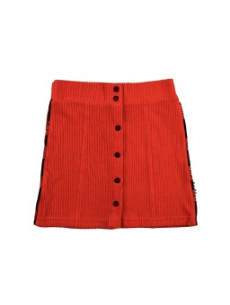 Rokje Button Skirt Corduroy Red
