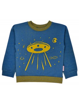Sweater Blue Jacquard Space