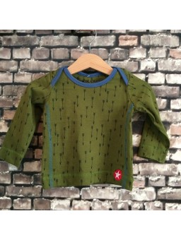 Longsleeve button arrow print green/blue
