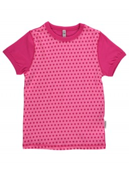 T-shirt cerise dots